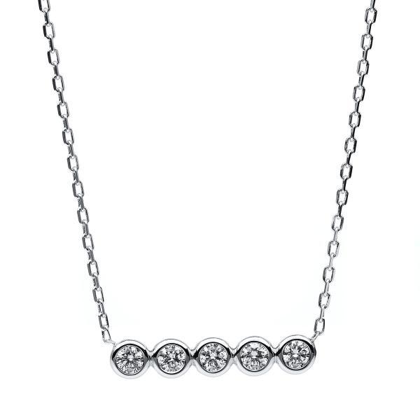 DiamondGroup Diamantcollier Collier Zarge 14 kt Weißgold - 4B530W4-1