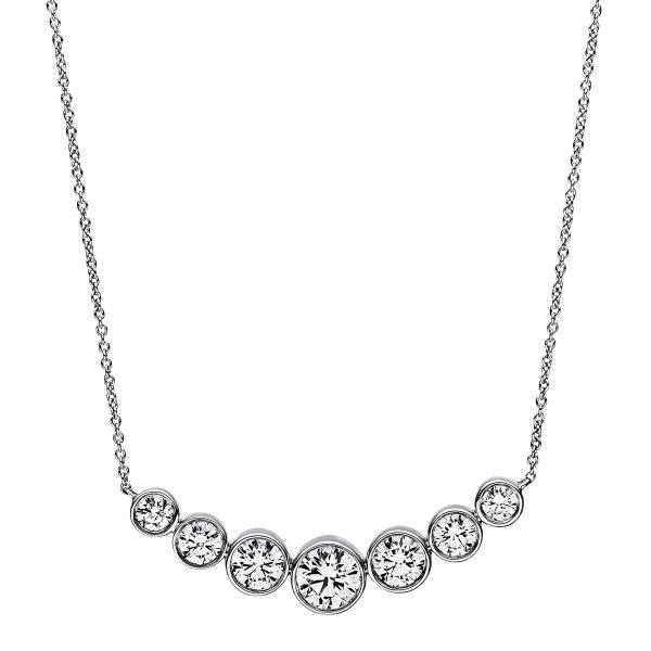 DiamondGroup Diamantcollier Collier Zarge 18 kt Weißgold - 4A789W8-2