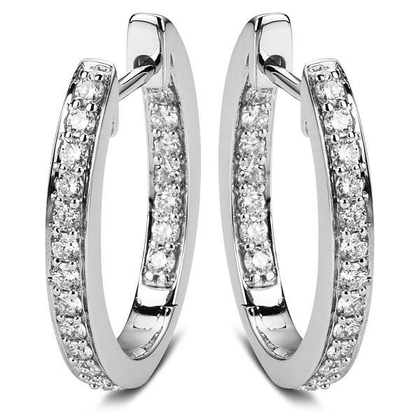 DiamondGroup Creolen aus 18 kt Weißgold 2A602W8-3