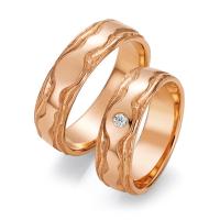 Ruesch Trauringe Roségold 66/52150 & 66/52160 Eheringe Gold strukturiert