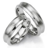 Breuning Trauringe / Partnerringe 48/08023 & 48/08024 aus Silber 925