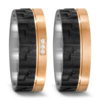 TitanFactory Trauringe Titan Bronze Carbon Brillant 52536