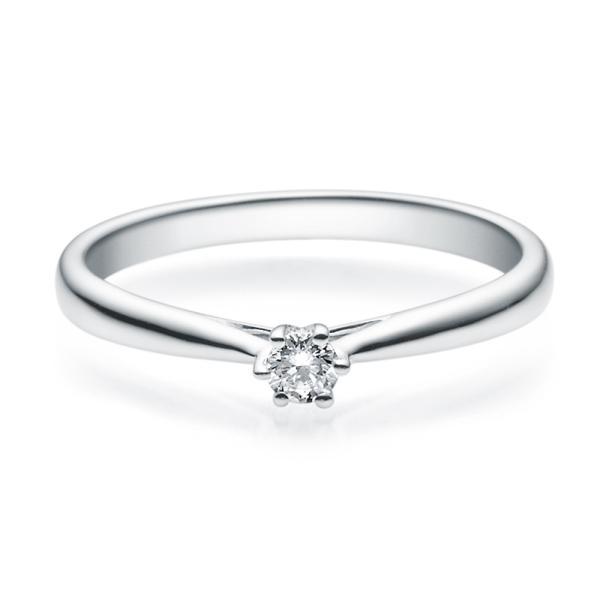 Rubin Verlobungsring 18007 Silber 925 Solitär Ring 0,100 ct. tw/si