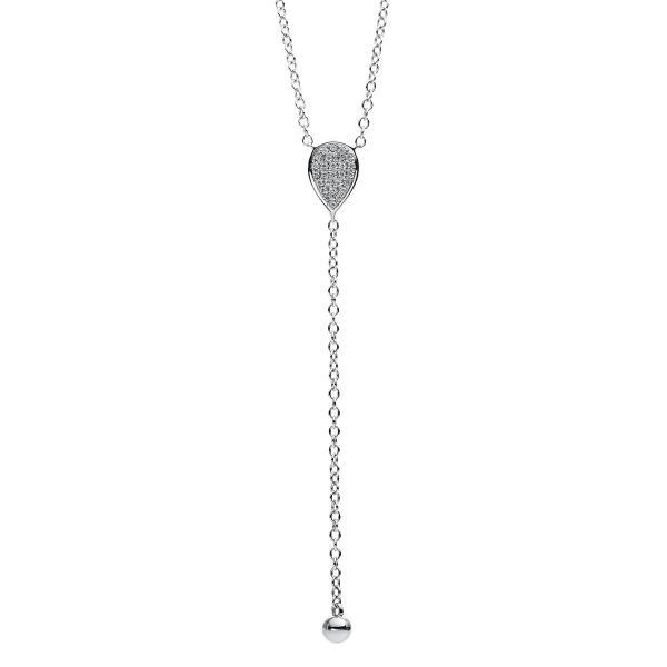 DiamondGroup Diamantcollier Collier 14 kt Weißgold - 4B166W4-1