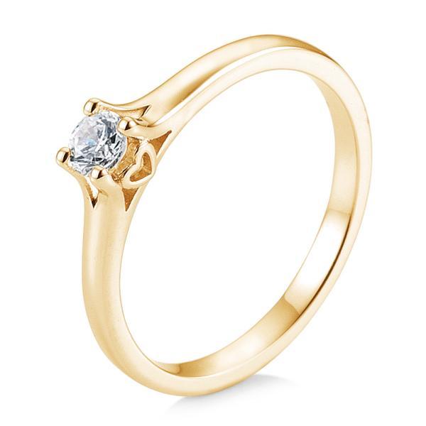 Saint Maurice Verlobungsring Gelbgold 585 Herz Brillant Krappenfassung 41/05720
