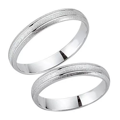 Schwarz Trauringe / Partnerringe 925-054D & 925-054H aus Silber 925