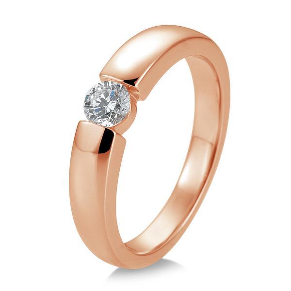Solitär Ring Rotgold Brillant 0,25 ct Breuning 41/82127