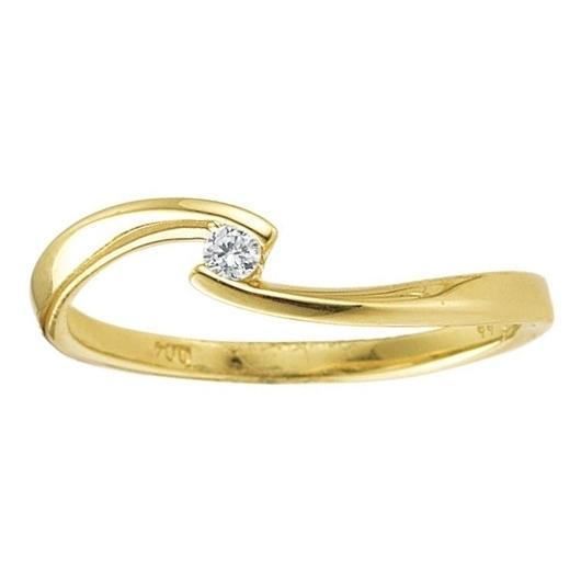 First Love Solitär Ring Gelbgold 585 Palido K10247G mit geschwungener Spannfassung