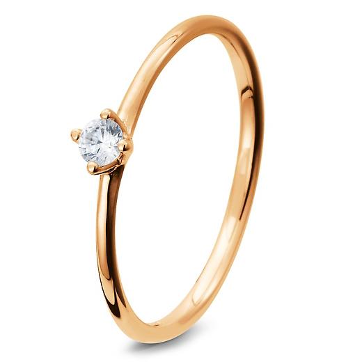 Rot Rosegold Verlobungsringe