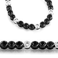 DiamondGroup Diamantcollier Collier 18 kt Weißgold, schwarz rhodiniert - 4A482W8-1