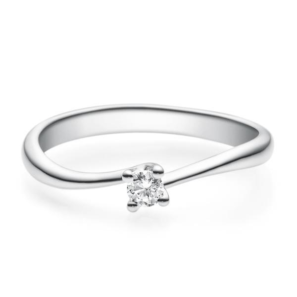 Rubin Verlobungsring 18011 Weißgold Solitär Ring 0.100 ct.