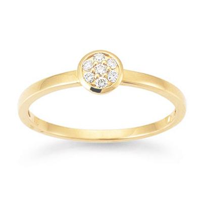 Ring Gelbgold 750 My Diary Brillant Palido S5292G