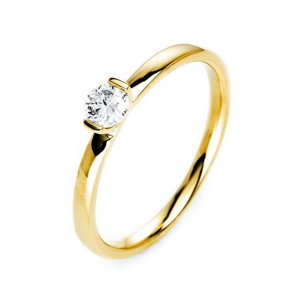DiamondGroup Ring 2er-Krappe 14 kt Gelbgold - 1J087G454-1