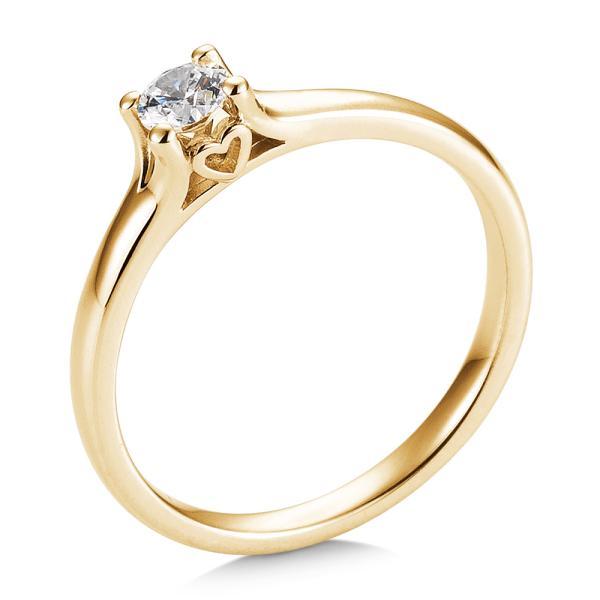 Saint Maurice Verlobungsring Gelbgold 585 Herz Brillant Krappenfassung 41/05721