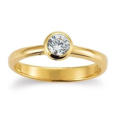 Ring Gelbgold 585 Zirkonia Palido K11871G