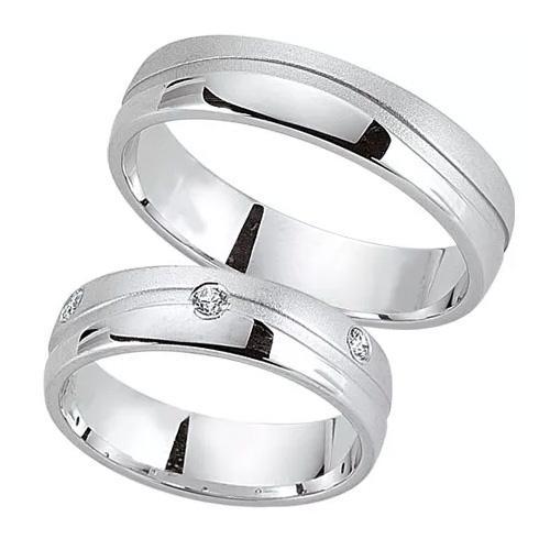 Schwarz Trauringe / Partnerringe 925-112D & 925-112H aus Silber 925