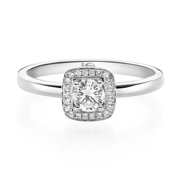Rubin Diamantring Solitaire Weißgold 750 19011