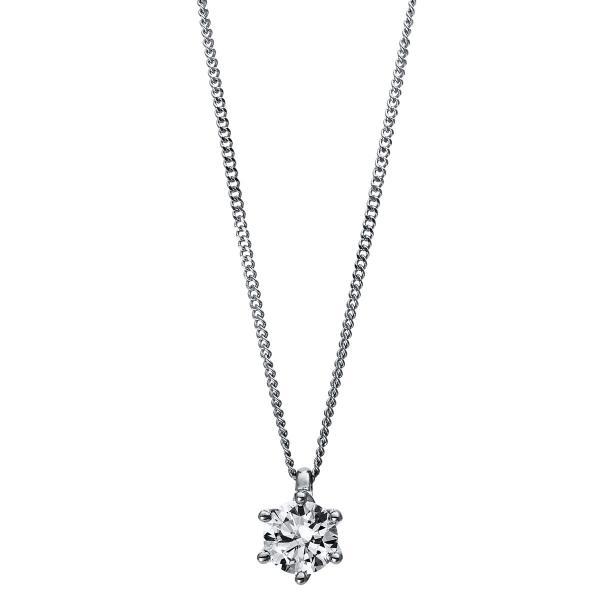 DiamondGroup Diamantcollier Collier 6er-Krappe 18 kt Weißgold & Platin 950 - 4E383WP8-2