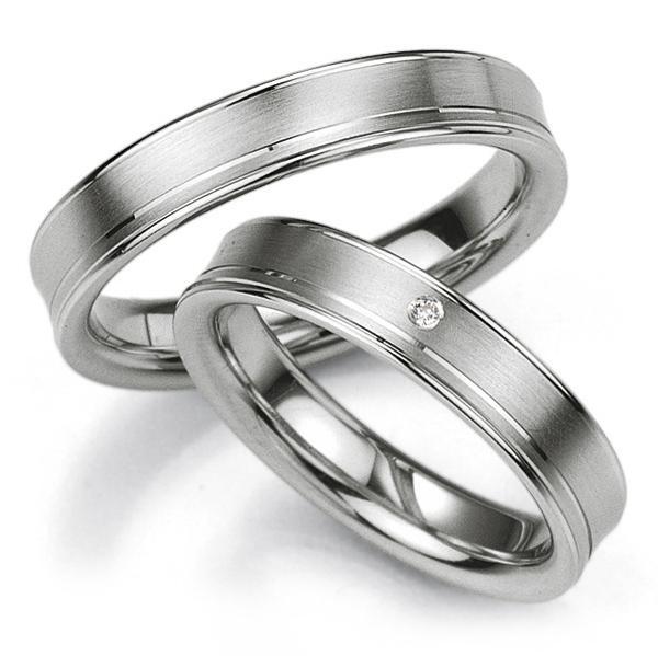 Breuning Trauringe / Partnerringe 48/08019 & 48/08020 aus Silber 925