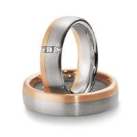 Trauringe Bicolor Premium Breuning 48/03440 & 48/03441