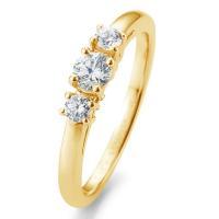 Breuning Verlobungsring Gelbgold 585 Brillant 3 Steine 41/05669