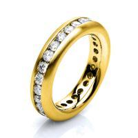 DiamondGroup Ring 18 kt Gelbgold, mattiert - 1B884G854-1