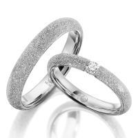Rubin Trauringe 1610-2 Weißgold diamantiert Brillant