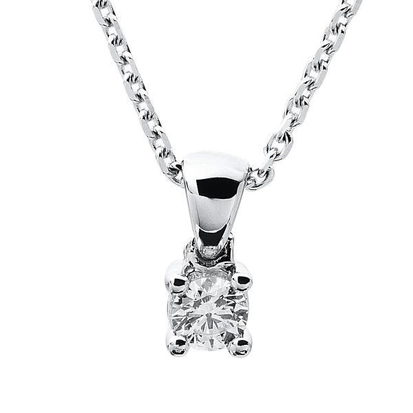 DiamondGroup Diamantcollier Collier 4er-Krappe 14 kt Weißgold - 4A316W4-4
