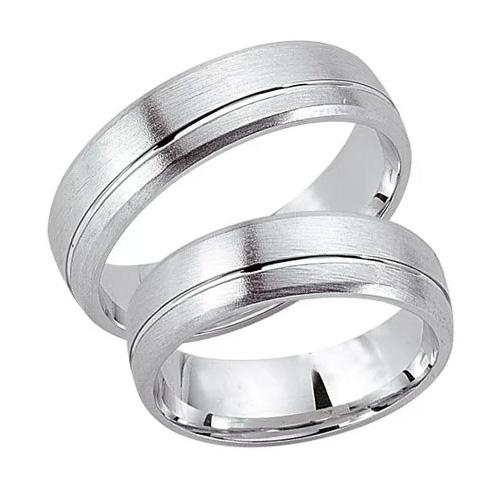 Schwarz Trauringe / Partnerringe Silber 925 SW925-015 Sterlingsilber feinmatt