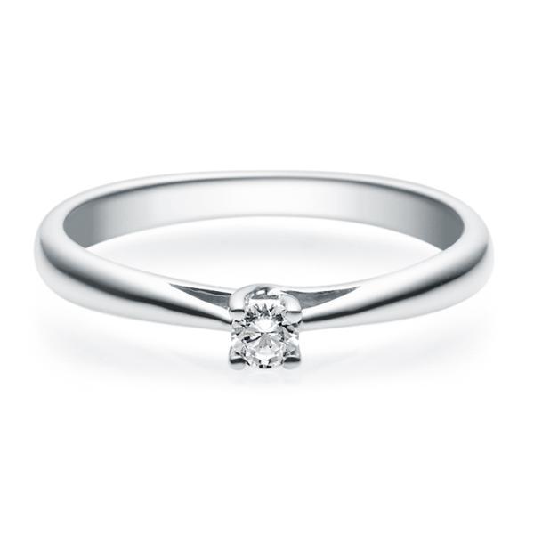 Rubin Verlobungsring 18002 Weißgold Solitär Ring 0.100 ct.