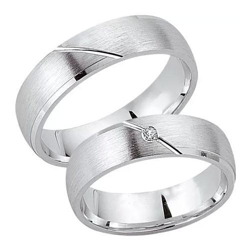 Schwarz Trauringe / Partnerringe Silber 925 Zirkonia SW925-041 Sterlingsilber feinmatt