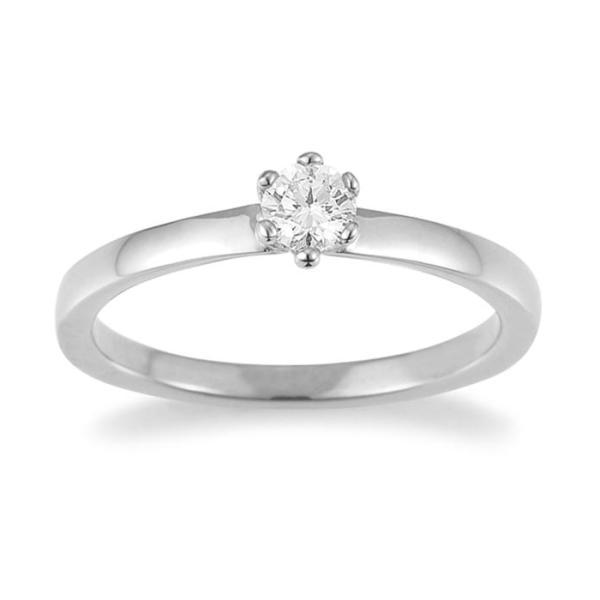 Palido Solitär Ring Weißgold 585 F1311W