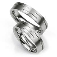 Breuning Trauringe / Partnerringe aus Silber 925 - 48/08001 & 48/08002
