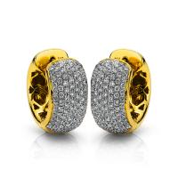 DiamondGroup Creolen aus 18 kt Gelbgold 2A006G8-1