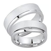 Schwarz Trauringe / Partnerringe Silber 925 Zirkonia SW925-038