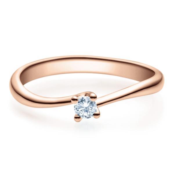 Rubin Verlobungsring 18011 Rotgold Solitär Ring 0.100 ct.