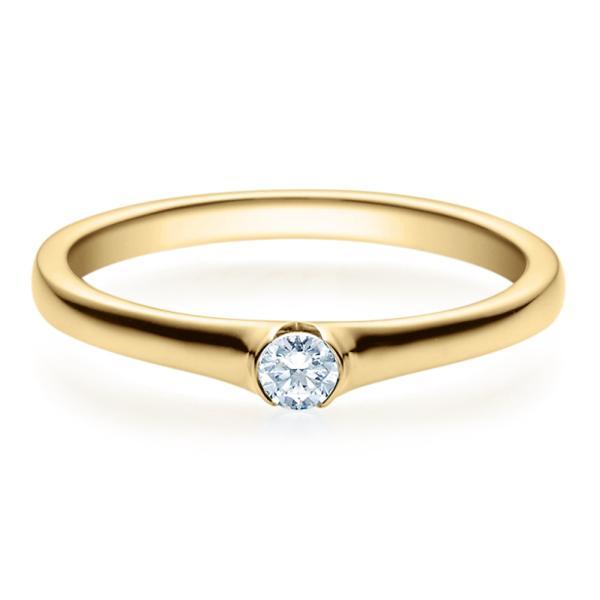 Rubin Verlobungsring 18022 Gelbgold Solitär Ring 0,100 ct.