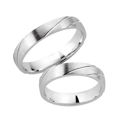 Schwarz Trauringe / Partnerringe 925-003D & 925-003H aus Silber 925