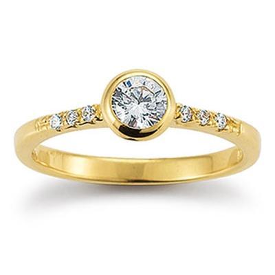 Ring Gelbgold 585 Zirkonia Palido K10912G