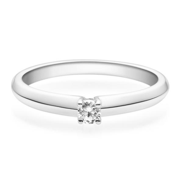 Rubin Verlobungsring Weißgold Solitär Ring 18004