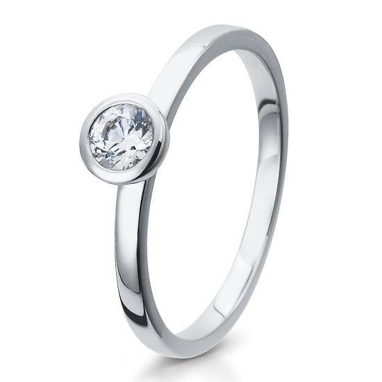 Solitär Ring Silber mit Zirkonia Breuning 41/05294