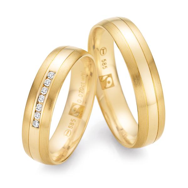 Ruesch Trauringe Gelbgold 585 Fairtrade 33/30030 & 33/30040