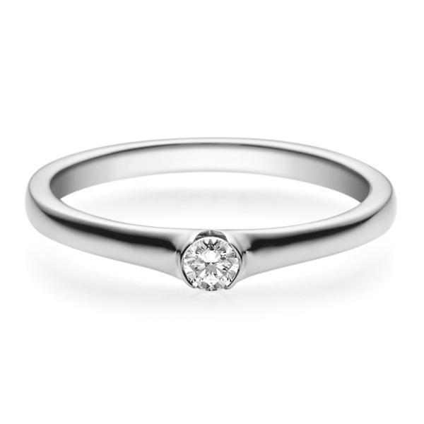 Rubin Verlobungsring 18022 Platin 950 Solitär Ring 0,100 ct.