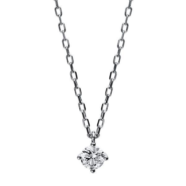 DiamondGroup Diamantcollier Collier 4er-Krappe 14 kt Weißgold - 4C775W4-4