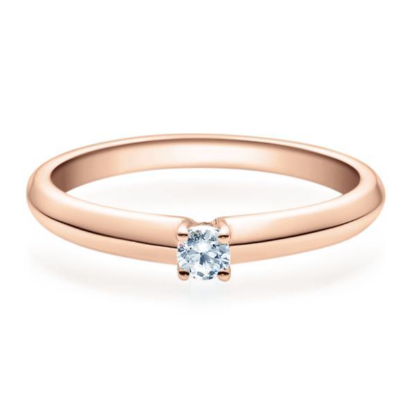 Rubin Verlobungsring Rotgold Solitär Ring 18004