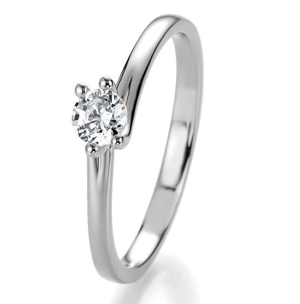 Breuning Bridal Antragsring Silber 925 Zirkonia 41/05310