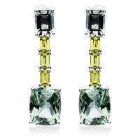 DiamondGroup Ohrschmuck 4er-Krappe 18 kt Weißgold 2I466W8-1