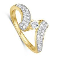 bella luce Diamantring Cristiana Gelbgold EH4714