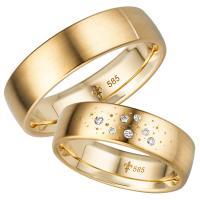 Giloy Trauringe TR-0-00019 & TR-1-00019 Ariane Gelbgold