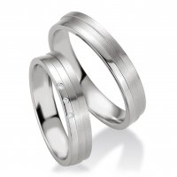 Breuning Trauringe / Partnerringe 48/08077 & 48/08078 aus Silber 925